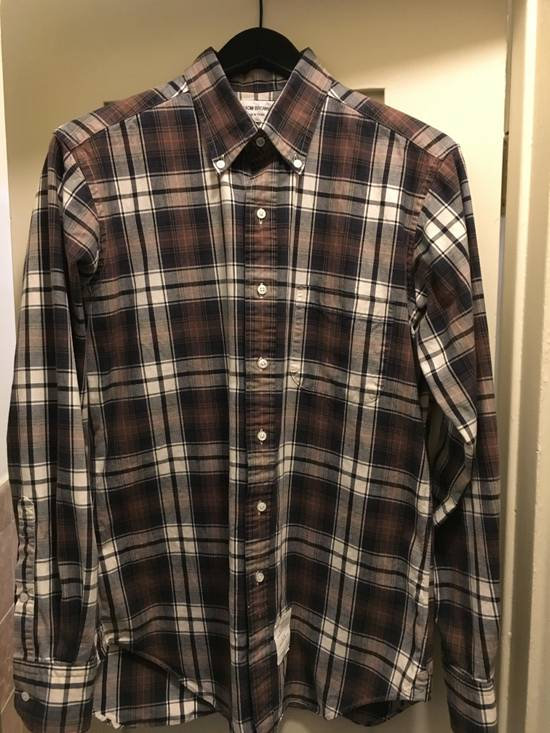 Thom Browne THOM BROWNE CHECK BUTTON DOWN FLANNEL Size US L / EU 52-54 / 3