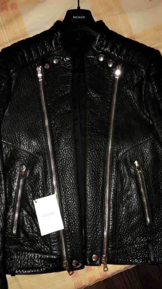 Balmain Balmain Black Leather Collared Biker Jacket Size US M / EU 48-50 / 2 - 4