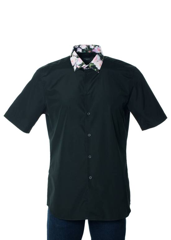 Givenchy Givenchy Mens Black W/ Floral Collar Button Down Size US XS / EU 42 / 0