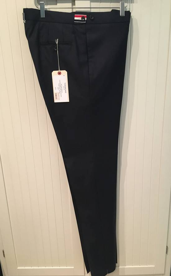 Thom Browne Side Tab Skinny Pants in Navy Twill Wool Size US 36 / EU 52