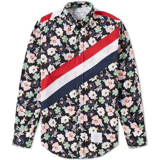 Thom Browne SS17 floral diagonal stripe shirt, BNWT Size US M / EU 48-50 / 2