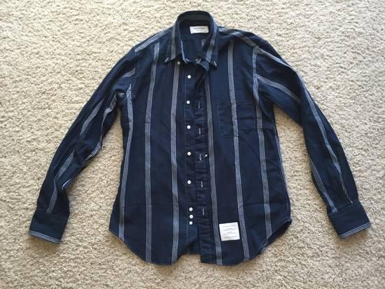 Thom Browne Brand New Thom Browne Navy Stripe Shirts Size US L / EU 52-54 / 3