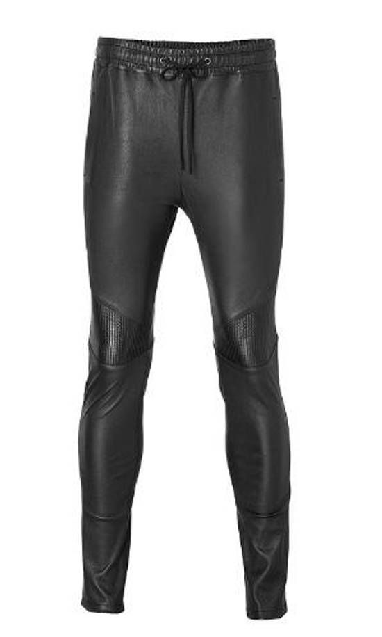 Balmain Leather Track pants Size US 30 / EU 46