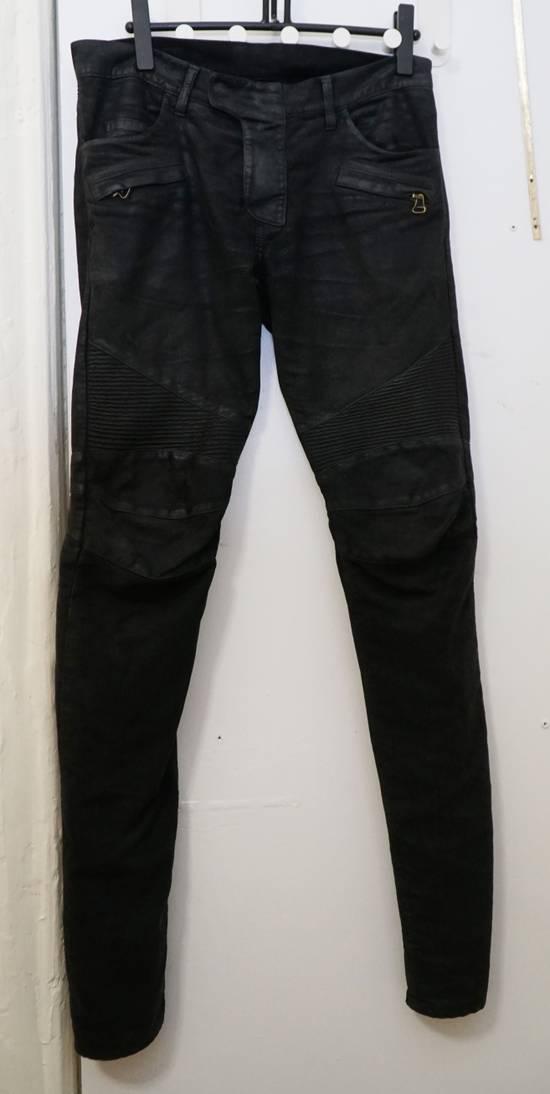 Balmain Waxed biker jeans black Size US 32 / EU 48