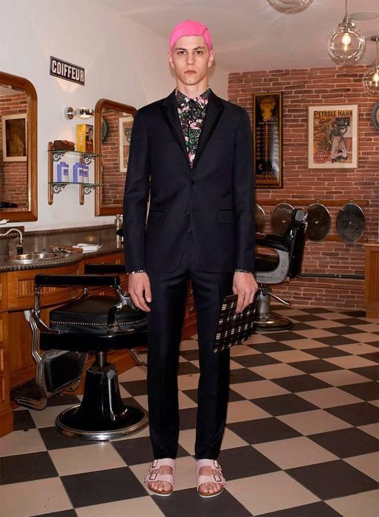 Givenchy GIVENCHY Pre14 reversed panel rose floral digital print cotton shirt US40 FR50 Size US M / EU 48-50 / 2 - 2