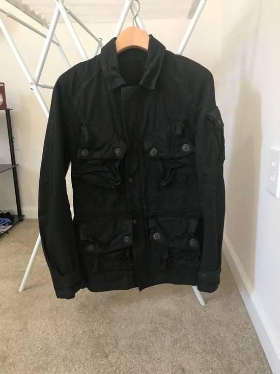 Julius AW08 Gas mask cargo pocket denim jacket Size US S / EU 44-46 / 1