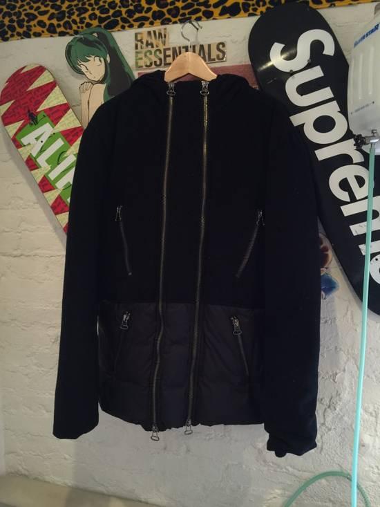 Balmain Hooded Down Wool/Nylon Coat Size US L / EU 52-54 / 3 - 1