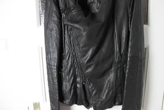 Julius 11aw halo asymmetrical leather jacket Size US M / EU 48-50 / 2 - 12
