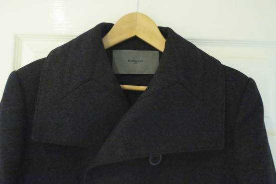 Givenchy BLACK WOOL DOUBLE BREASTED PEA COAT Size US M / EU 48-50 / 2 - 5