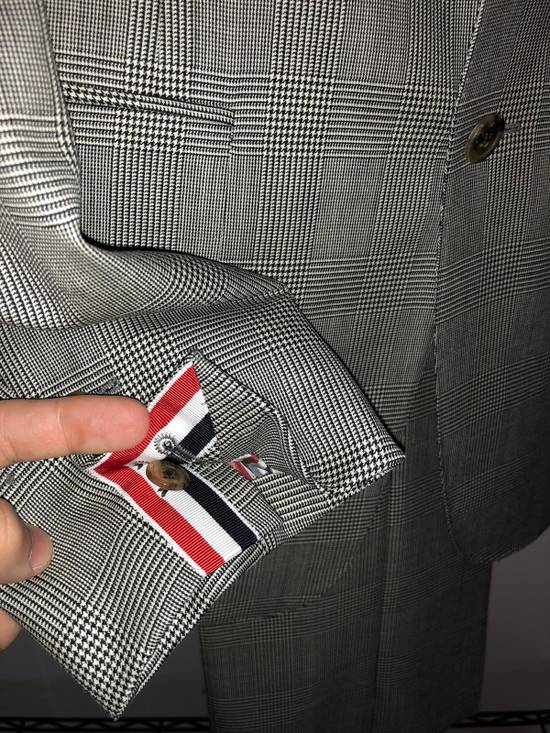 Thom Browne Classic Suit In Prince Of Whales Super 120's Wool Size 2 Size 40R - 1