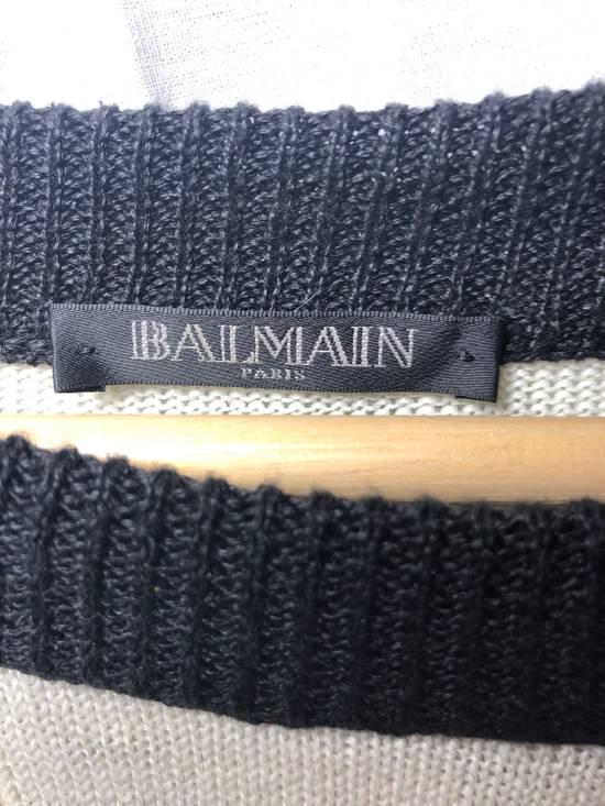Balmain Union Flag Distressed Sweater Size US XXL / EU 58 / 5 - 3