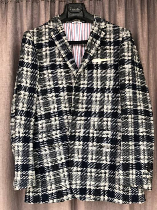 Thom Browne Navy/Grey Plaid Sportcoat Jacket Size 1 Size 38R