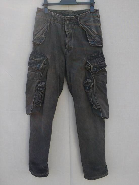 Julius Gas Mask Cargo Pants in Bown Denim AW09 Size 1 Size US 29