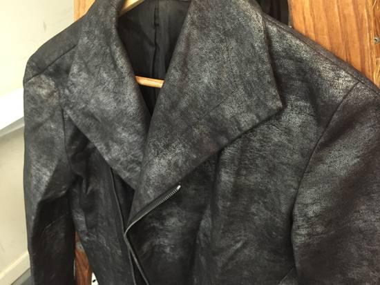 Julius FW07 Black/Silver Coated Cotton Jacket Size US M / EU 48-50 / 2 - 2