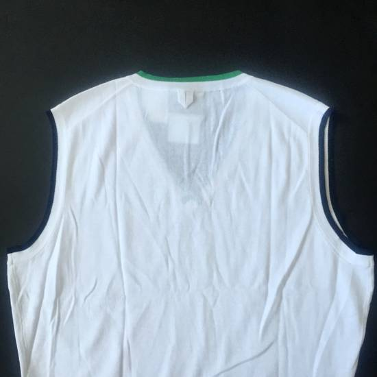 Thom Browne White Contrast Tipped Sweater Vest NWT Size US XL / EU 56 / 4 - 7