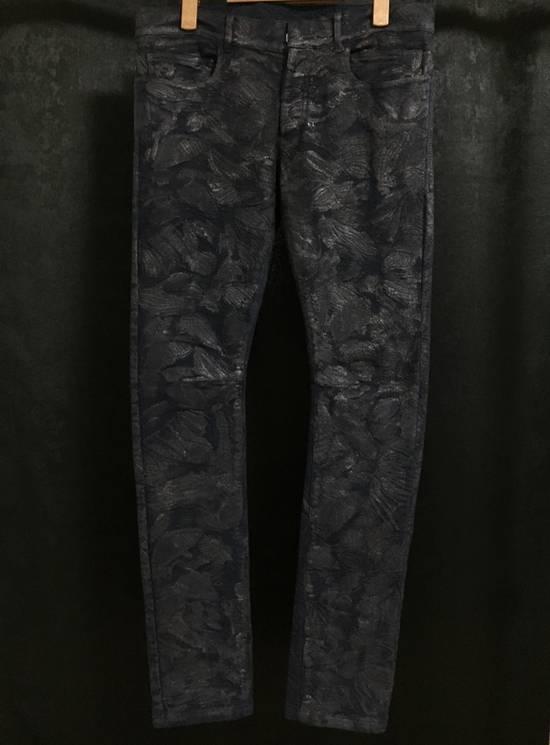 Balmain Balmain Midnight Blue Waxed Embroidered Jeans Size US 27