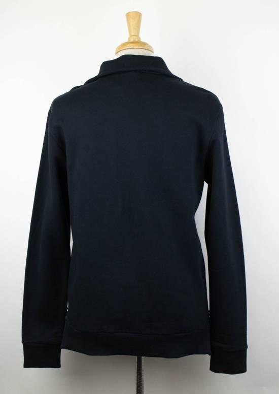 Balmain Men's Blue Cotton Snake Embroidered Henley Sweater Size Large Size US L / EU 52-54 / 3 - 2