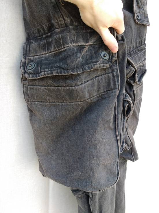 Julius Gas Mask Cargo Pants in Bown Denim AW09 Size 1 Size US 29 - 3