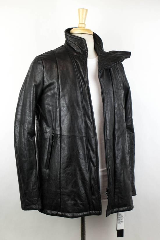 Julius 7 Men's Black Lamb Skin Leather Zip-Up Jacket Size 2/S Size US S / EU 44-46 / 1 - 2