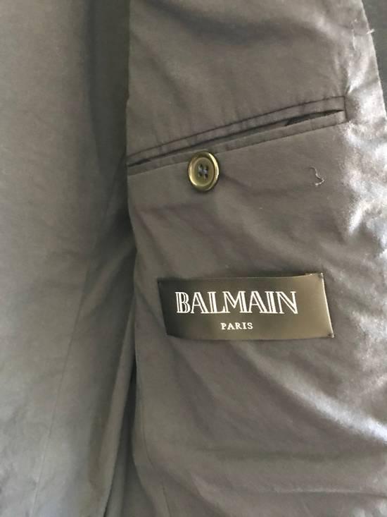 Balmain Slim Fit Cotton Navy Blazer Size 44R - 6