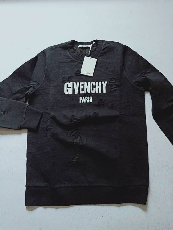 Givenchy GIVENCHY Logo-Print Distressed Cotton Sweatshirt Size US S / EU 44-46 / 1 - 2