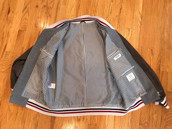 Thom Browne Cashmere & Suede Varsity Jacket Sz 4 Size US L / EU 52-54 / 3 - 2