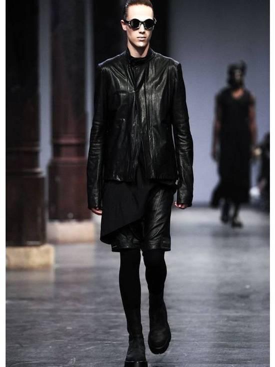 Julius Size 3 - Medium - Leather Julius Black Drop Crotch Shorts - SS16 - $1300 Retail Size US 32 / EU 48 - 3