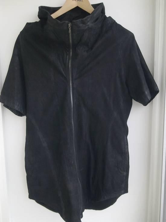 Julius Lamb Nubuck Leather Short Sleeve Jacket Size US L / EU 52-54 / 3 - 3