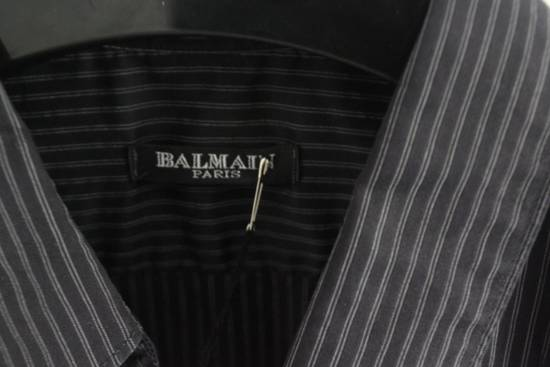 Balmain SS11 Decarnin Era Pins Striped Short Sleeve Shirt Size US S / EU 44-46 / 1 - 4