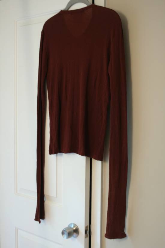 Julius FW08 Blood Red Cotton/Cashmere Rib L/S Size US S / EU 44-46 / 1 - 8
