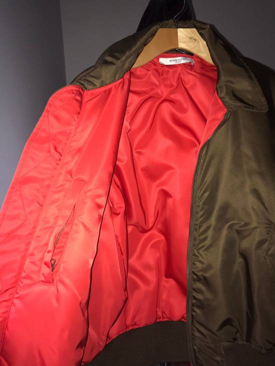 Givenchy Givenchy Auburn/Olive Leather Bomber W Red Satin Inside Size US M / EU 48-50 / 2 - 2
