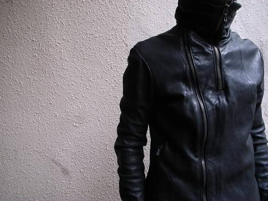 Julius JULIUS _7 ma high neck black lamb biker jacket slim fit Japan Size US S / EU 44-46 / 1 - 1