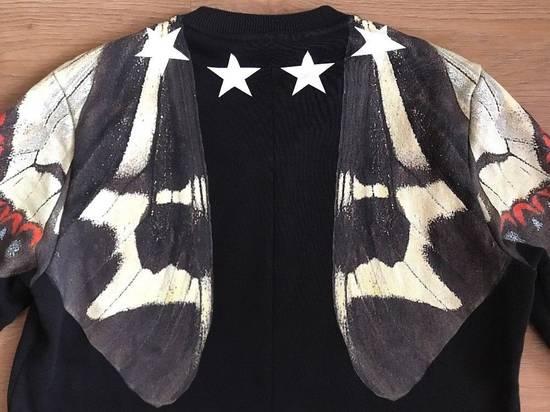 Givenchy Black Butterfly Stars Printed Sweatshirt Size M White Jumper Top Fleece Size US M / EU 48-50 / 2 - 8