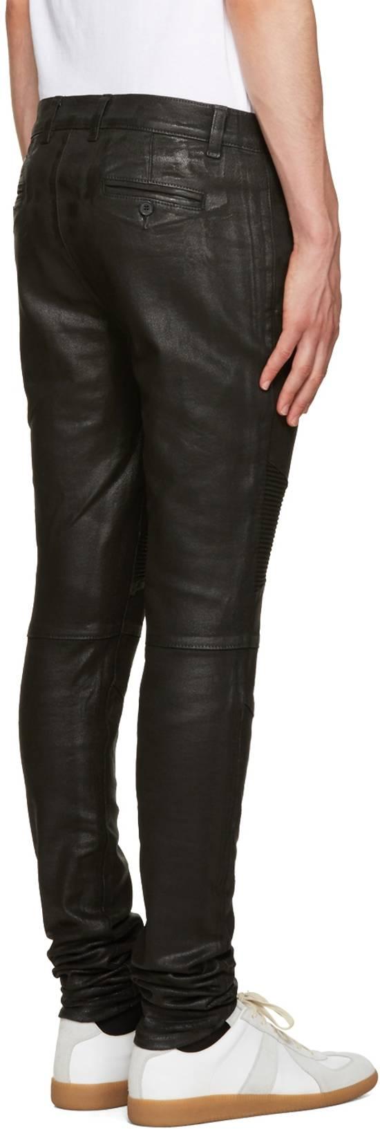 Balmain 1265$ Skinny Coated Stretch Denim Biker Jeans Size US 27 - 2