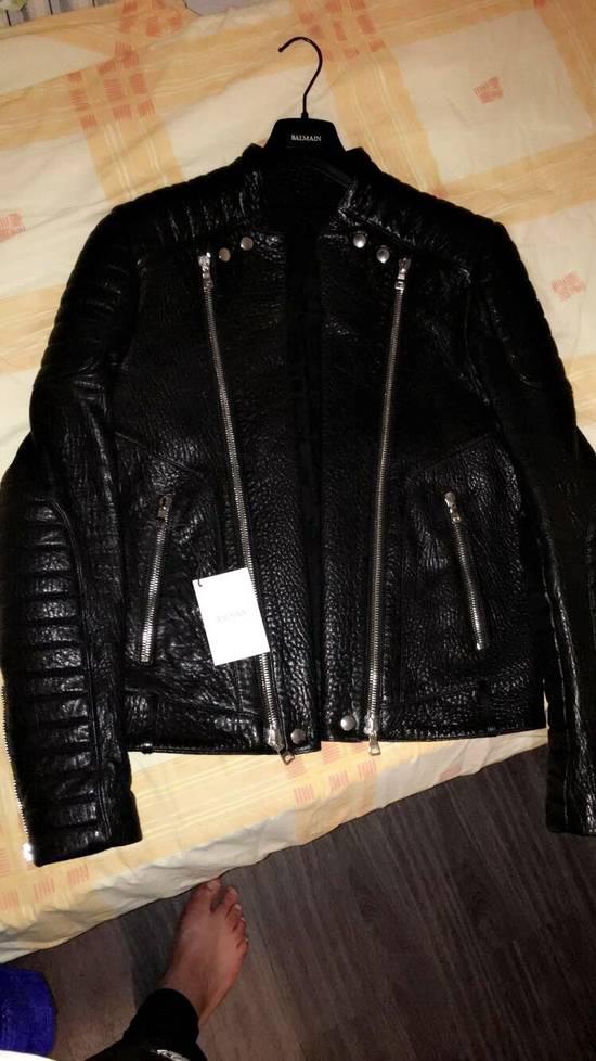 Balmain Balmain Black Leather Collared Biker Jacket Size US M / EU 48-50 / 2 - 5