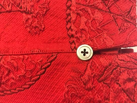 Thom Browne Thom Browne SS13 Tattoo Jacquard Red Silk Shorts (size 1) Size US 30 / EU 46 - 3