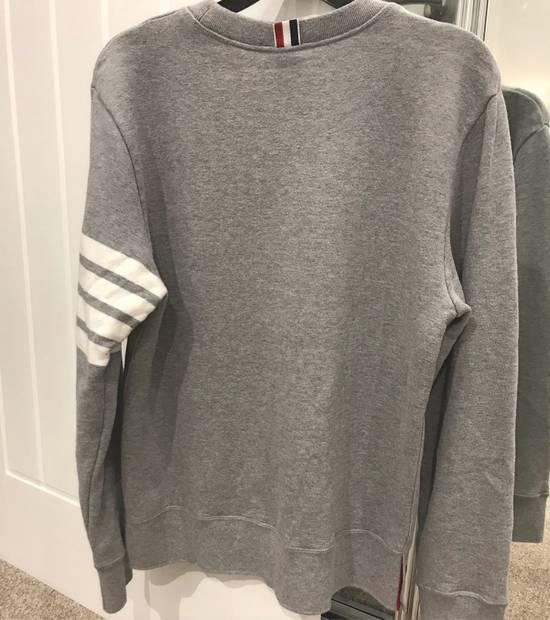 Thom Browne classic Striped Loopback grey sweatshirt Size US M / EU 48-50 / 2 - 2
