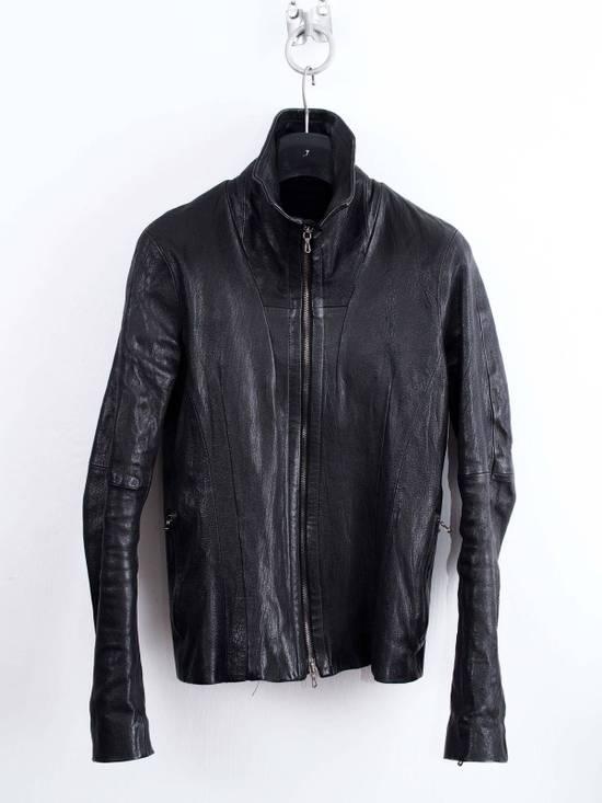 Julius Julius Jut Neck Leather Jacket Size US S / EU 44-46 / 1 - 2
