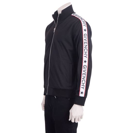 Givenchy Black Technical Jersey Jacket With Logo Banded Sleeves Size US L / EU 52-54 / 3 - 1
