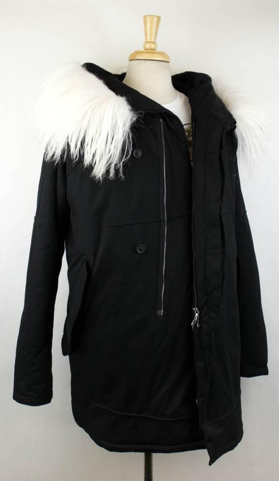 Julius Black Cotton Blend Zip-Up Hooded Parka Coat Size 3/M Size US M / EU 48-50 / 2 - 2