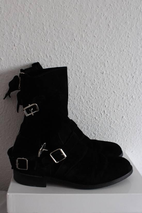 Balmain Suede Strapped Biker Boots Size US 12.5 / EU 45-46 - 1