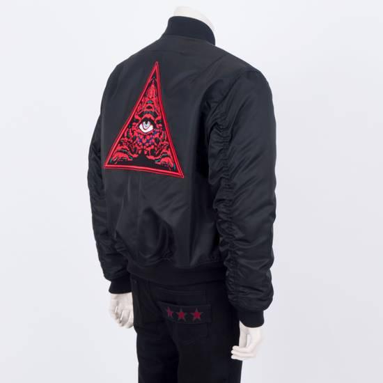 Givenchy 2550$ New Black Padded Nylon Illuminati Patch Bomber Jacket Size US L / EU 52-54 / 3 - 2