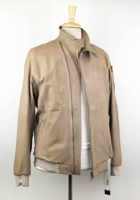 Julius 7 Men's Brown Lamb Skin Leather Zip-Up Jacket Size 3/M Size US M / EU 48-50 / 2 - 2