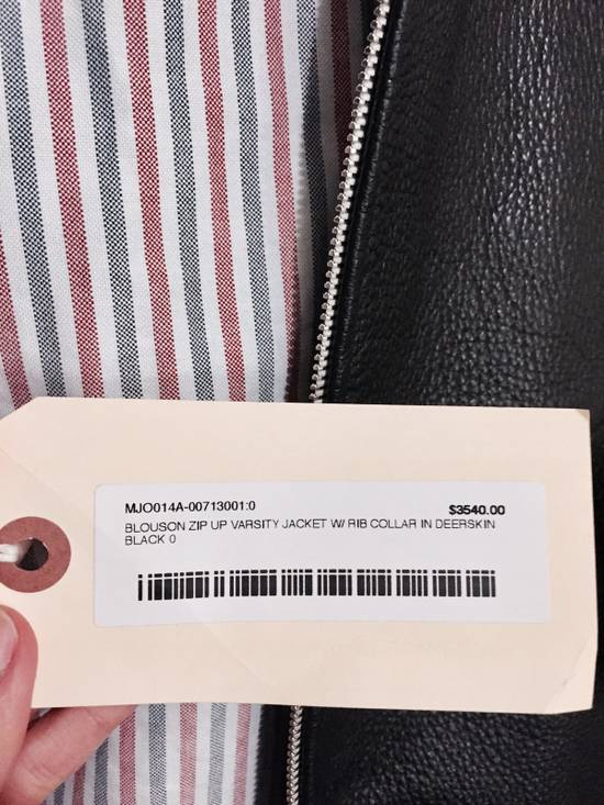 Thom Browne Black Leather Varsity Jacket (NEW W TAG) Size US XS / EU 42 / 0 - 7