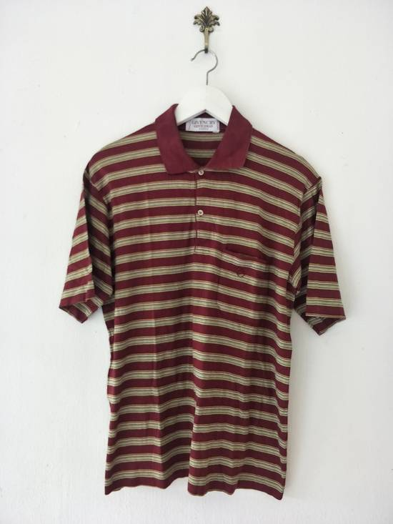 Givenchy France Designer / Vtg Classic Givenchy Gentleman Paris GC / Stripe Pocket Polo Shirt / Embroidered Logo / Made In Italy / Excellent Condition / Small Size Size US S / EU 44-46 / 1