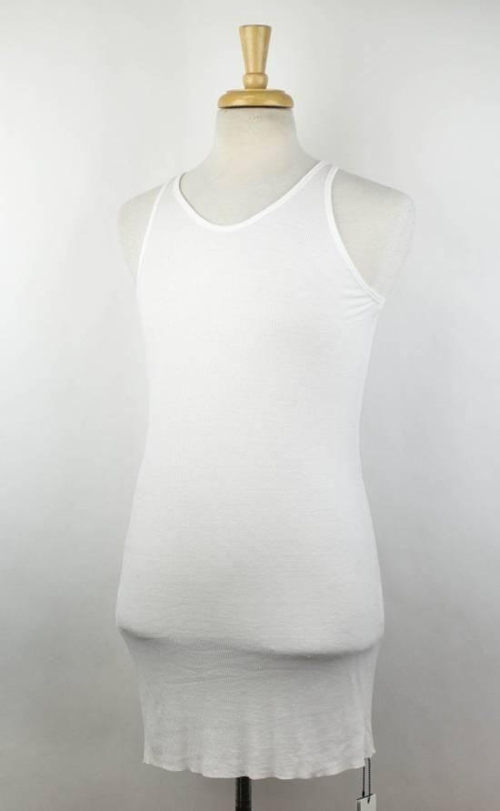 Julius 7 White Silk Blend Long Ribbed Tank Top T-Shirt Size 2/S Size US S / EU 44-46 / 1 - 1