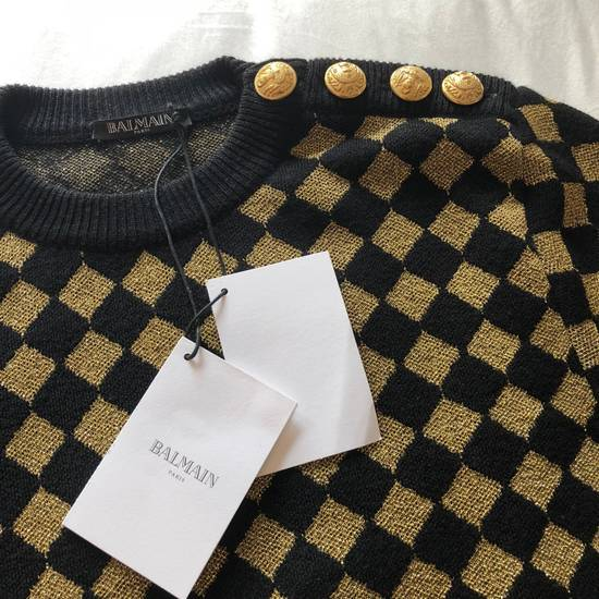 Balmain RARE RUNWAY Balmain Paris Black & Gold Wool Glitter Sweater Size US S / EU 44-46 / 1 - 3