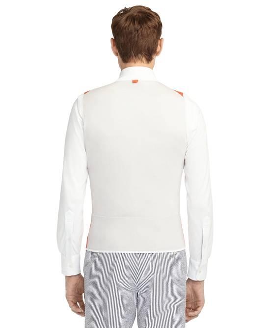 Thom Browne Coral-White Color-Block Sweater Vest NEW Size US M / EU 48-50 / 2 - 5