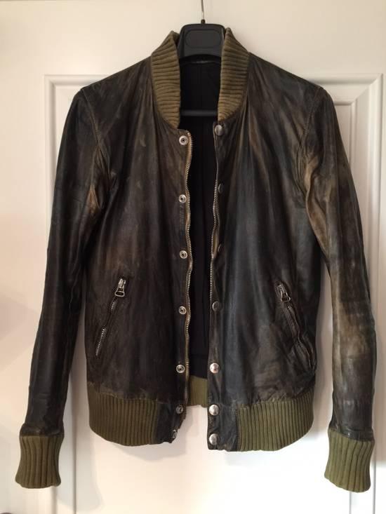 Balmain Decarnin Green Leather Teddy Boy Jacket Size US M / EU 48-50 / 2 - 6