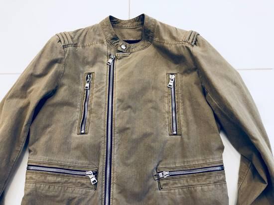 Balmain Canvas Biker Jacket Size US M / EU 48-50 / 2 - 2